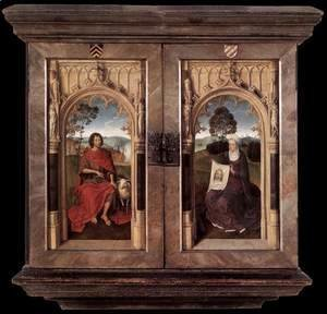Triptych of Jan Floreins [detail: 2, reverse]