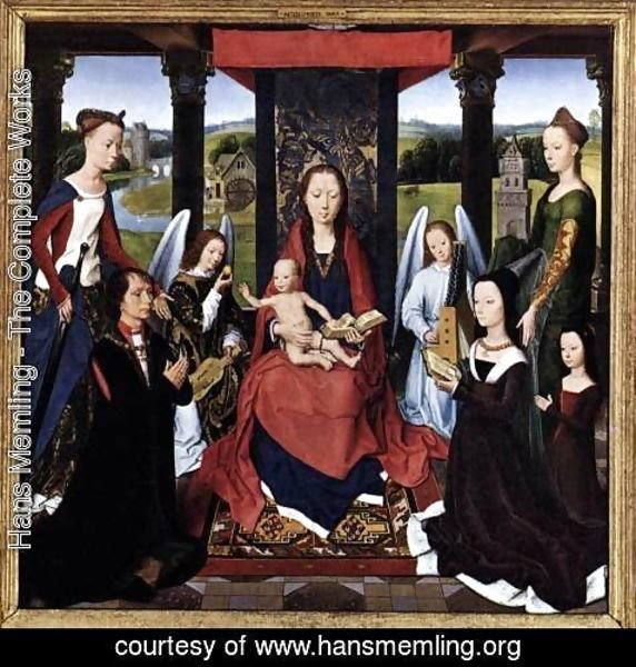 Hans Memling - The Donne Triptych [detail: 2, central panel]
