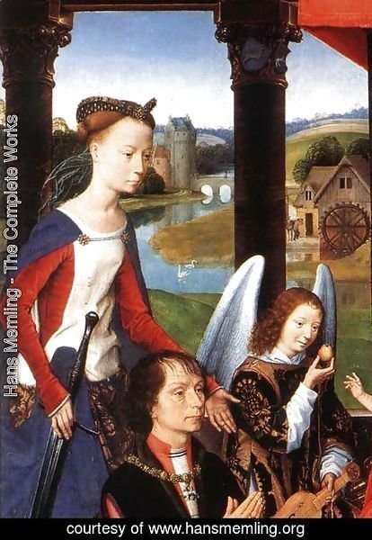 Hans Memling - The Donne Triptych [detail: 3, central panel]