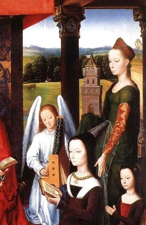 Hans Memling - The Donne Triptych [detail: 4, central panel]