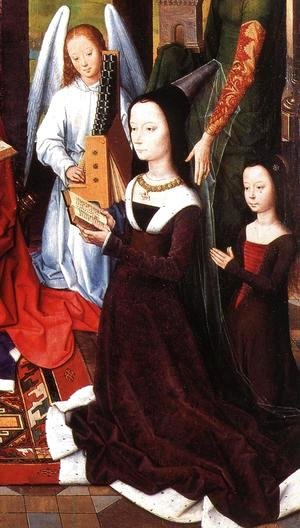 Hans Memling - The Donne Triptych [detail: 5, central panel]
