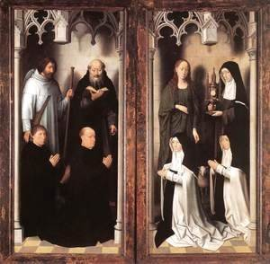 Hans Memling - St John Altarpiece [detail: 10, closed]