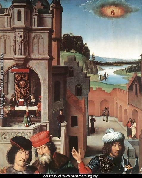 St John Altarpiece [detail: 3, left wing]