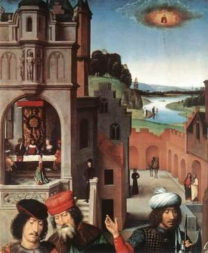 Hans Memling - St John Altarpiece [detail: 3, left wing]
