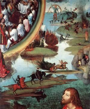 Hans Memling - St John Altarpiece [detail: 9, right wing]
