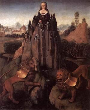 Hans Memling - Allegory with a Virgin