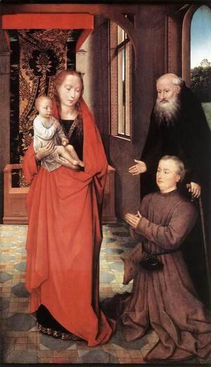 Hans Memling - Virgin and Child with St Anthony the Abbot and a Donor