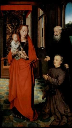 Hans Memling - Virgin and Child with St Anthony the Abbot and a Donor 2