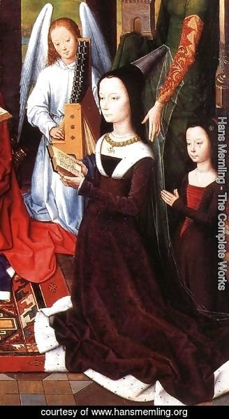Hans Memling - The Donne Triptych (detail) 2