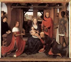 Hans Memling - Triptych of Jan Floreins (central panel)
