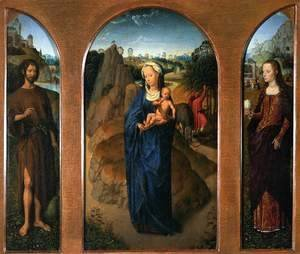 Triptych of the Rest on the Flight into Egypt