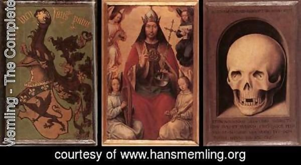 Hans Memling - Triptych of Earthly Vanity and Divine Salvation (rear)