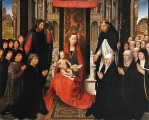 Virgin and Child with Sts James and Dominic