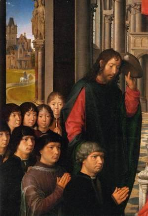 Hans Memling - Virgin and Child with Sts James and Dominic (detail)
