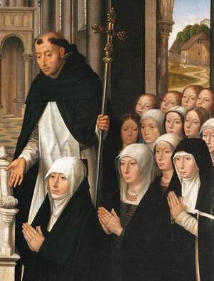 Hans Memling - Virgin and Child with Sts James and Dominic (detail) 2
