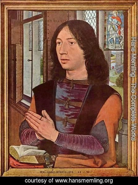 Hans Memling - Diptych of Maarten Nieuwenhove (right panel)