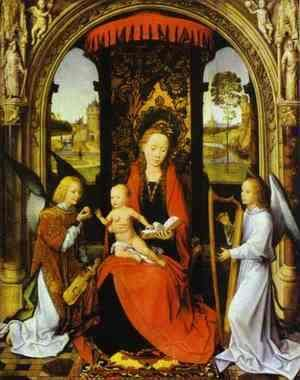 Hans Memling - Madonna And Child With Angels 1480