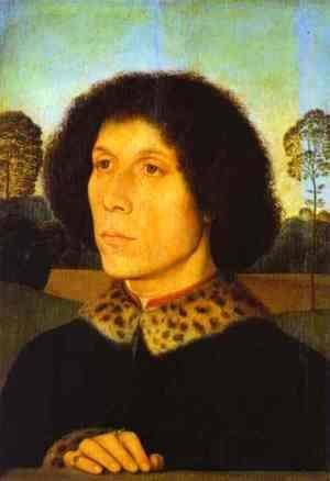 Hans Memling - Portrait of a Man in a Landscape