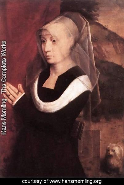 Hans Memling - Portrait Of A Praying Woman 1485