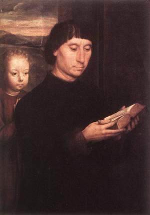 Hans Memling - Portrait Of A Reading Man 1485