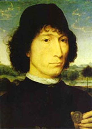 Hans Memling - Portrait Of An Italian With A Roman Coin (Giovannide Candida) 1470