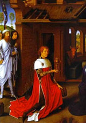 Hans Memling - The Adoration Of The Magi Detail 1 1470s