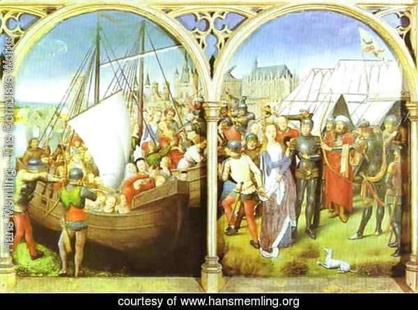 The Martyrdom Of St Ursulas Companions And The Martyrdom Of St Ursula From The Shrine Of St Ursula Consecrated In 1489