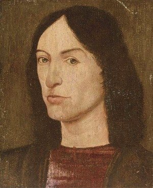 Hans Memling - Portrait of a young man, bust-length