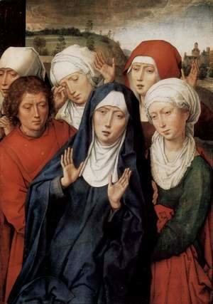 Hans Memling - Granada-diptych, right wing, the holy women and St. John
