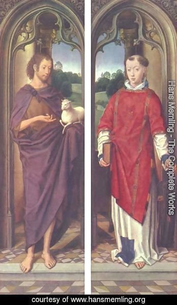 Hans Memling - John the Baptist and St. Lawrence