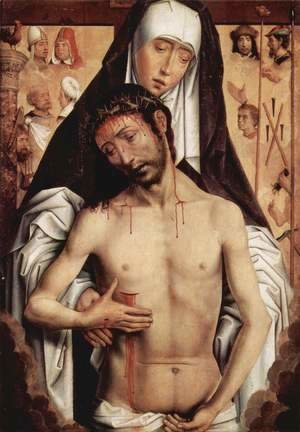 Hans Memling - Sorrows with dead Christ
