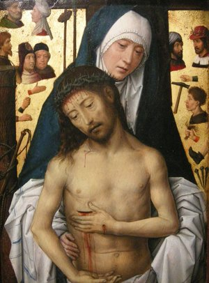 Ecce Homo in the arms of the virgin