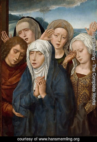 Hans Memling - The Mourning Virgin with St. John and the Pious Women from Galilee