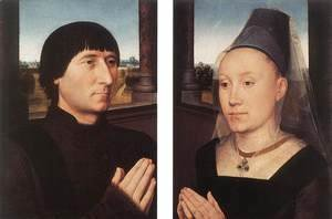 Hans Memling - Portraits of Willem Moreel and His Wife c. 1482