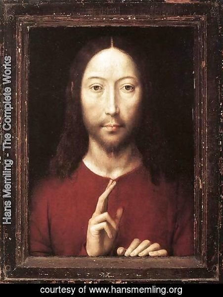 Hans Memling - Christ Giving His Blessing 1481