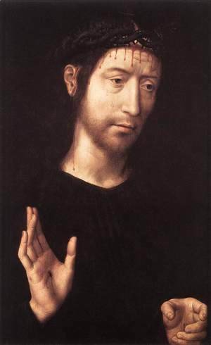 Hans Memling - Man of Sorrows 1480s