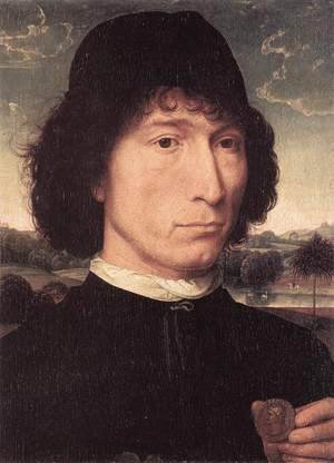 Hans Memling - Portrait of a Man with a Roman Coin 1480