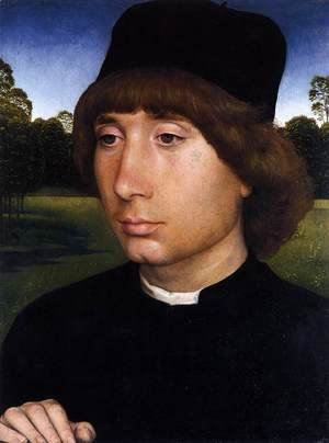 Hans Memling - Portrait of a Young Man before a Landscape c. 1480