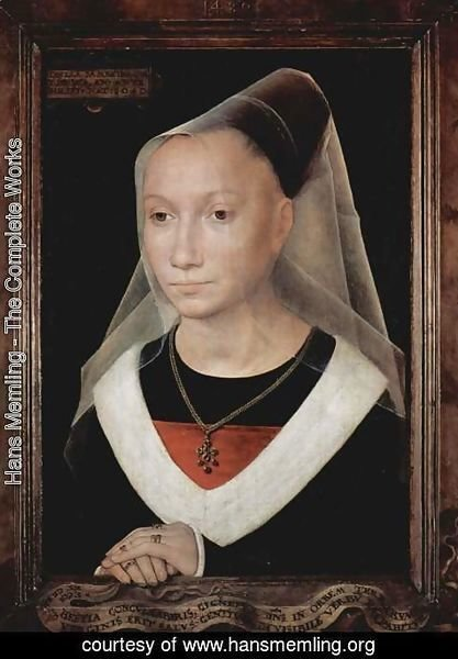 Hans Memling - Portrait of a Young Woman 1480