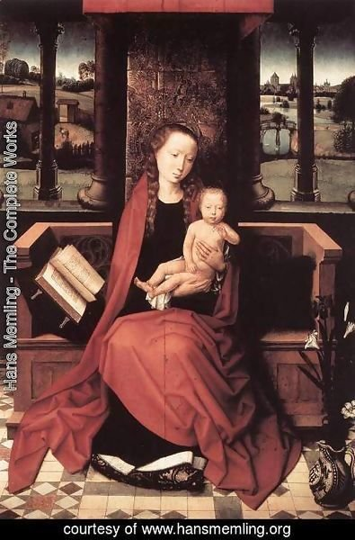 Hans Memling - Virgin and Child Enthroned 1480s