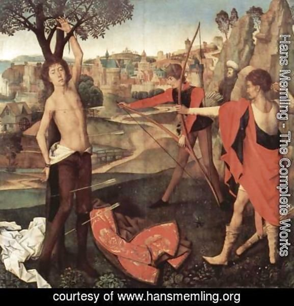 Hans Memling - The Martyrdom of St Sebastian c. 1475