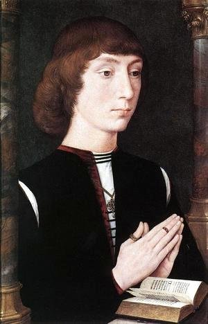 Hans Memling - Young Man at Prayer c. 1475