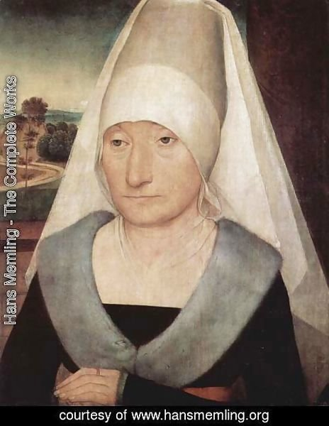 Hans Memling - Portrait of an Old Woman 1470-75