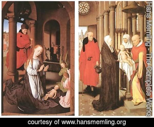 Hans Memling - Wings of a Triptych c. 1470
