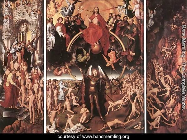 Last Judgment Triptych (open) 1467-71