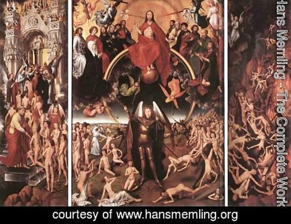 Hans Memling - Last Judgment Triptych (open) 1467-71