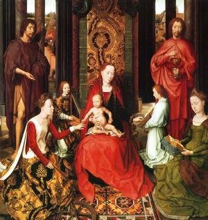 Hans Memling - Marriage Of St Catherine