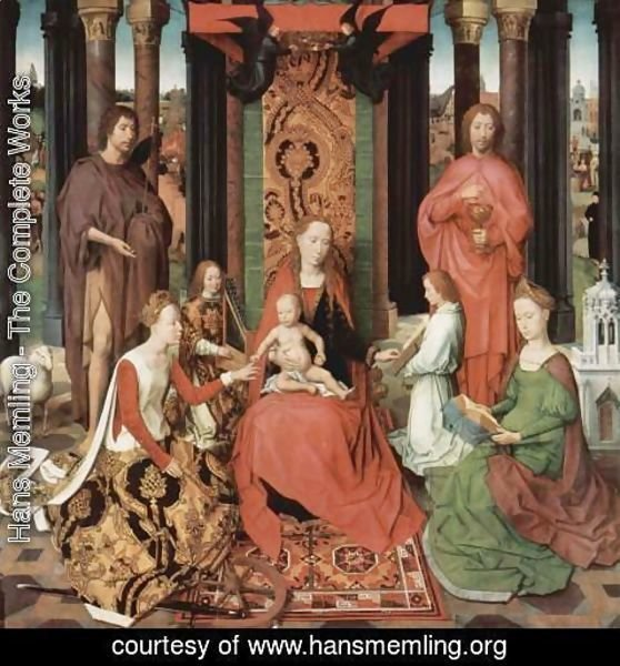 Hans Memling - St John Altarpiece (central panel) 1474-79