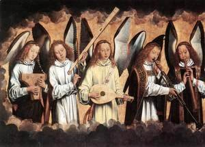 Angel Musicians (left panel) 1480s