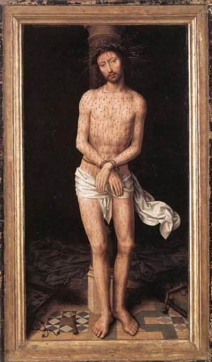 Hans Memling - Christ at the Column 1485-90